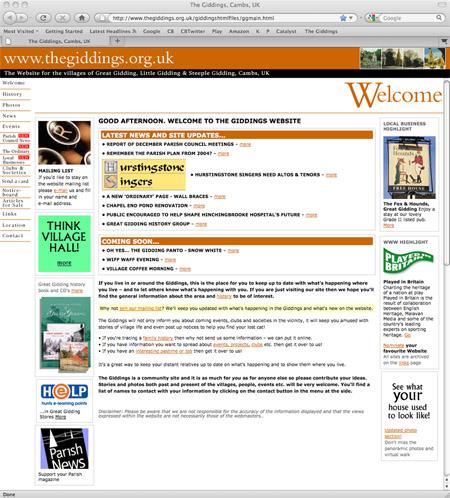 Giddings website