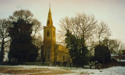 Steeple Gidding church