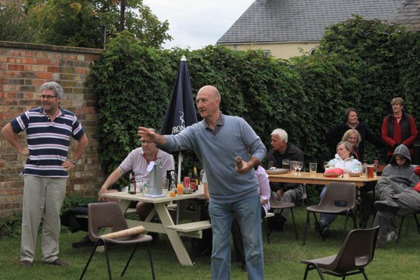 Aunt Sally at the Fox and Hounds Great Gidding, August 2011