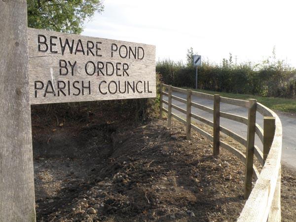 Chapel End Pond restoration 2011