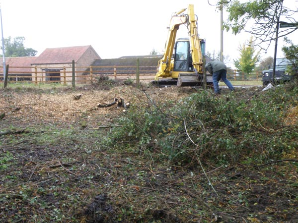 Chapel End Pond restoration 2011