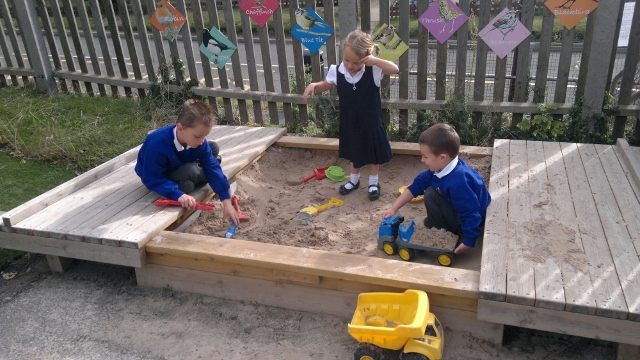 Sandpit at Great Gidding School