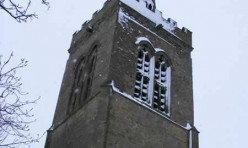 St Michael's bell tower in winter