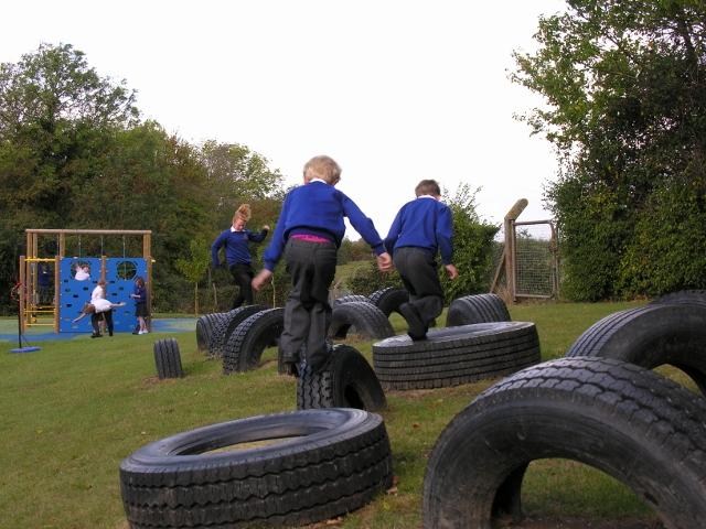 Great Gidding school playground