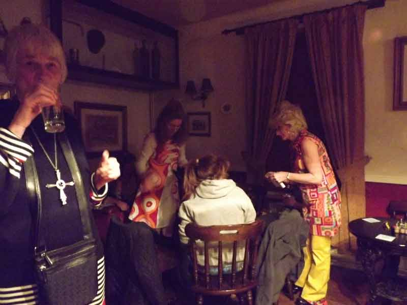 New Years Eve 60s party, Fox and Hounds, Great Gidding