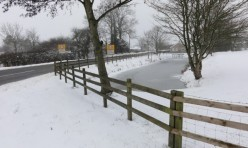 Townsend Pond, Gidding in snow, Great Gidding, winter