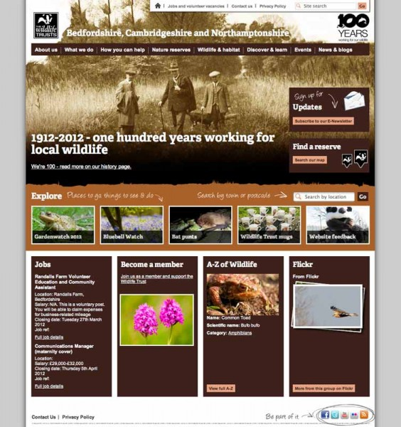 Bedfordshire, Cambridgeshire and Northamptonshire wildlife website