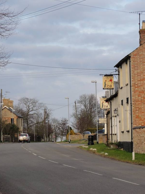 Main Street, Great Gidding, March 2012