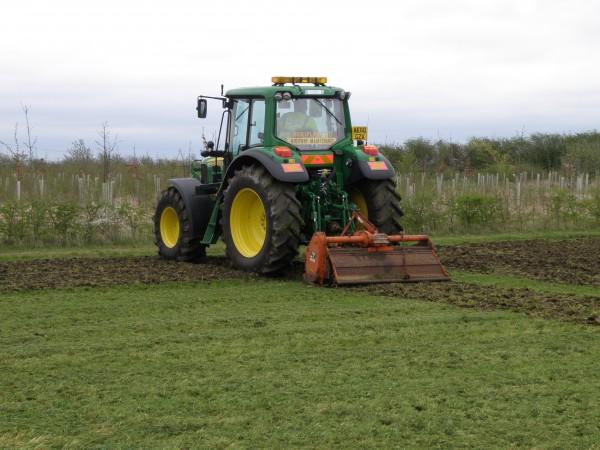 tractor mounted rotavator