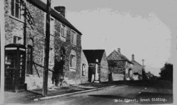 Main Street Great Gidding historical photograph