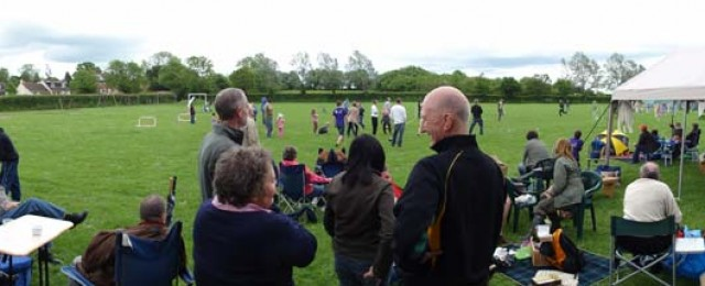 Great Gidding recreation ground now a QEII field.