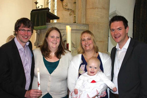 The baptism of Alice Helen Nunns at Great Gidding