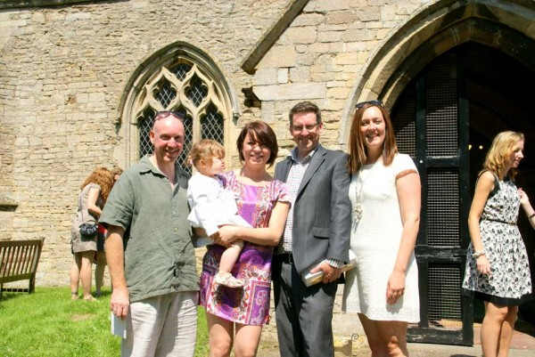 The baptism of Amelie Una Tebutt in St Michael's Church, Great Gidding