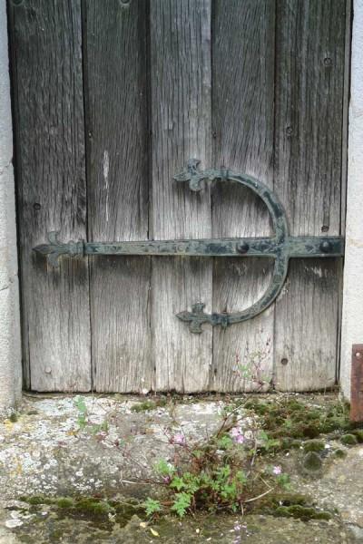 Weathered doorway, St Andrew's, Steeple Gidding
