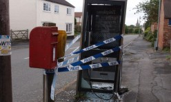 Look what happened to the telephone box