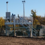 Sewage farm construction