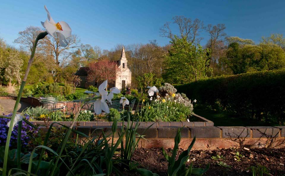 Ferrar House garden, Little Gidding