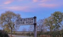 Hemington Lodge Road, Great Gidding, October 2012