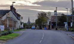 Great Gidding Main Street, early evening, October 2012