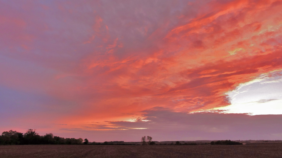 Great Gidding skyline, October 2012