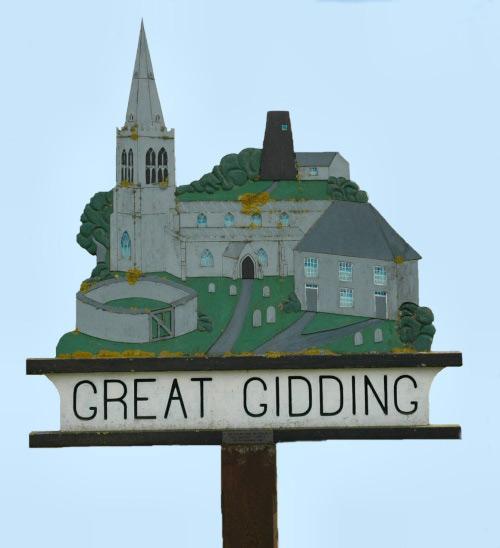 Great Gidding village sign