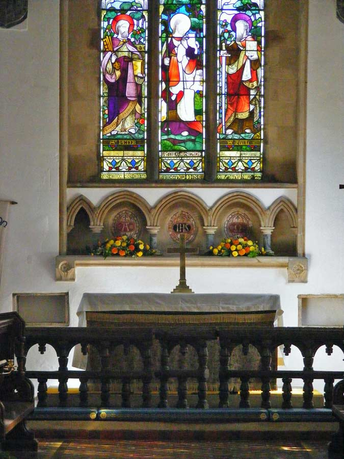 Altar, St Michael's Church, Great Gidding 2009