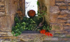 Harvest festival decorations, St Michael's Church, Great Gidding 2009