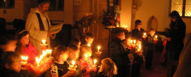 St Michael's Church at Christmas
