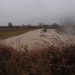 Fields on Hemington Lodge Road in flood