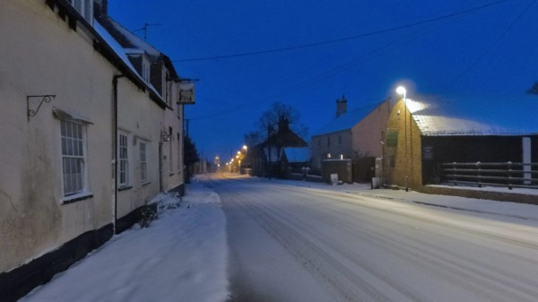 Snow in Great Gidding January 2013 - Main Street