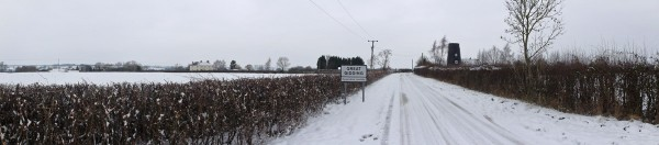 Snow in Great Gidding January 2013 - Mill Road