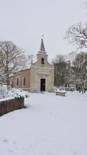Snow in Little Gidding January 2013 _ St John's Church