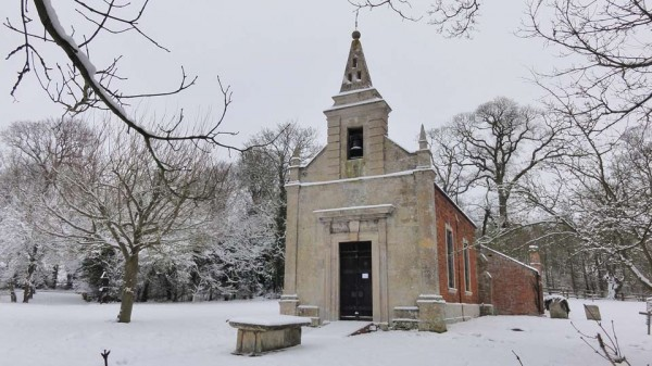 Snow in Little Gidding January 2013 - St John's Church