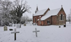 Snow in Little Gidding January 2013 - St John's Church