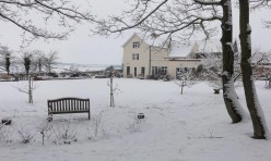 Snow in Little Gidding January 2013 - Ferrar House