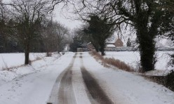 Snow in Little Gidding January 2013
