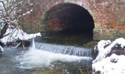 The B660 bridge over the Alconbury Brook