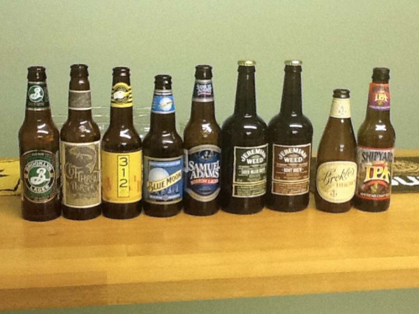 American beers at Great Gidding Beer and Skittles Night