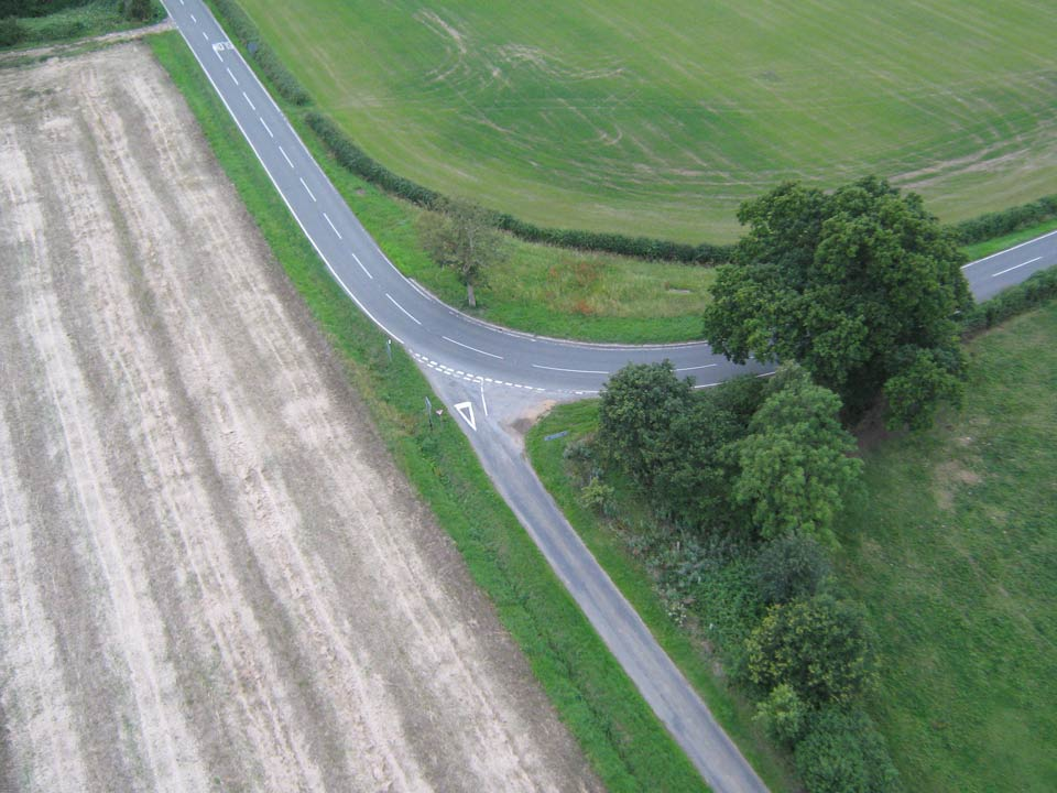 Aerial view of Great Gidding - Back Lane and Winwick Road