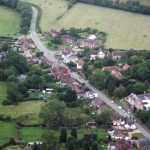 Aerial view of Main Street, Great Gidding