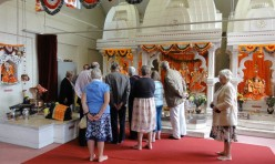 Great Gidding Gala week visit to Hindu Temple