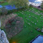 Looking north up Main Street from St Michael's Church tower, Great Gidding