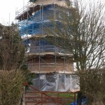Windmill Tower progressing in Great Gidding
