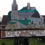 Tatty village sign, Great Gidding