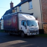 The beer has arrived at Fox and Hounds, Main Street, Great Gidding