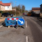 Water leak on Main Street, Great Gidding