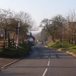 Putting out the flags, Village Hall, Main Street,Great Gidding