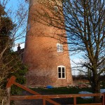 Work progresses on the old Windmill, Great Gidding