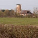 Mill Tower, Great Gidding from across the fields