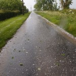 Hail storm on Hemington Lodge Road, Great Gidding